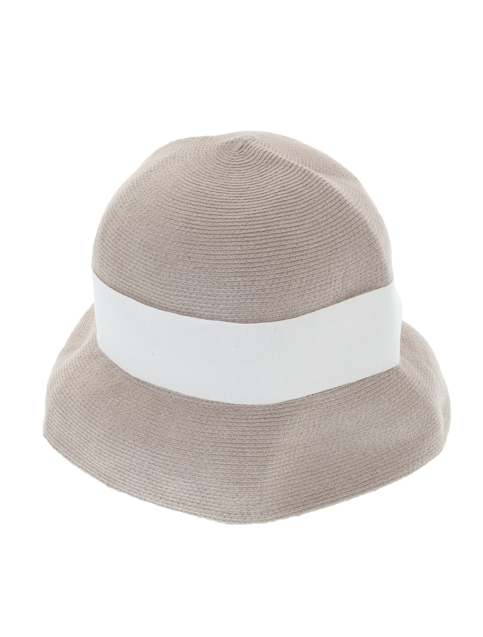 【mature ha.】Hemp Linen Braid Hat Short 詳細画像 グレージュ 1