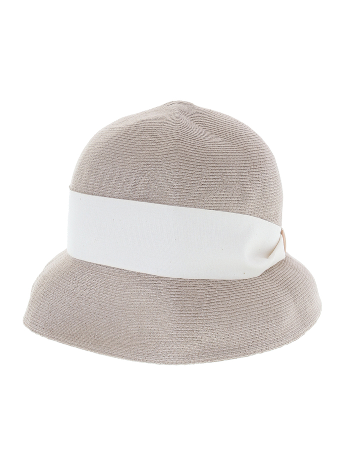 【mature ha.】Hemp Linen Braid Hat Short 詳細画像 グレージュ 2