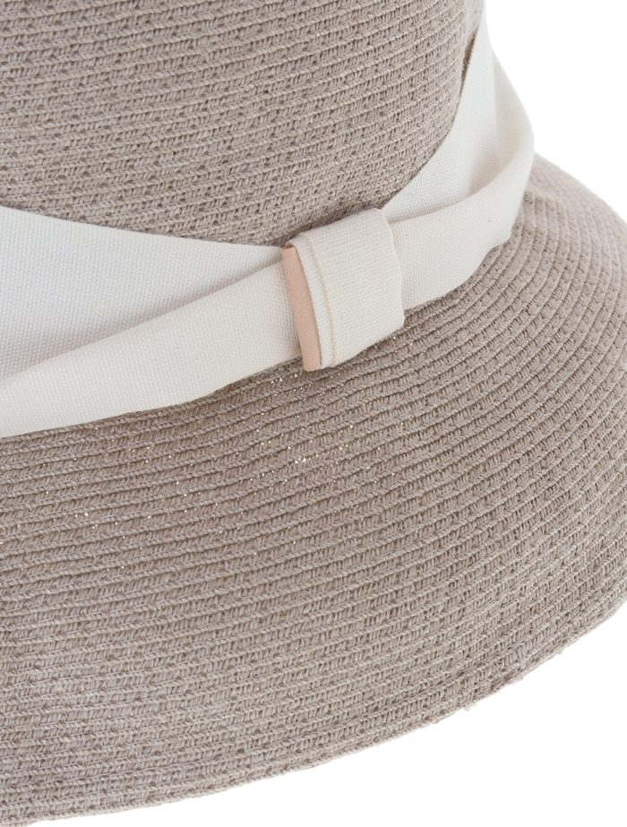 【mature ha.】Hemp Linen Braid Hat Short 詳細画像 グレージュ 5