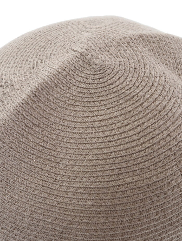 【mature ha.】Hemp Linen Braid Hat Short 詳細画像 グレージュ 6