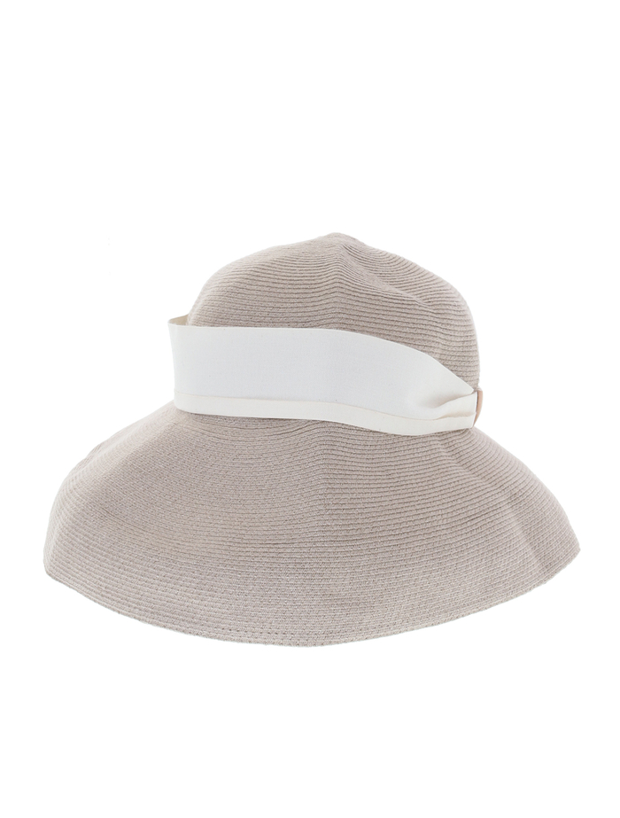 【mature ha.】Hemp Linen Braid Hat Low Wide 詳細画像 グレージュ 2
