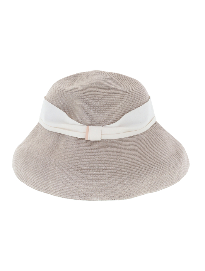 【mature ha.】Hemp Linen Braid Hat Low Wide 詳細画像 グレージュ 3