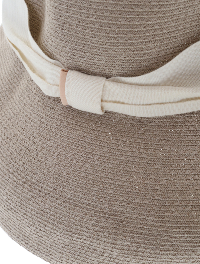 【mature ha.】Hemp Linen Braid Hat Low Wide 詳細画像 グレージュ 5