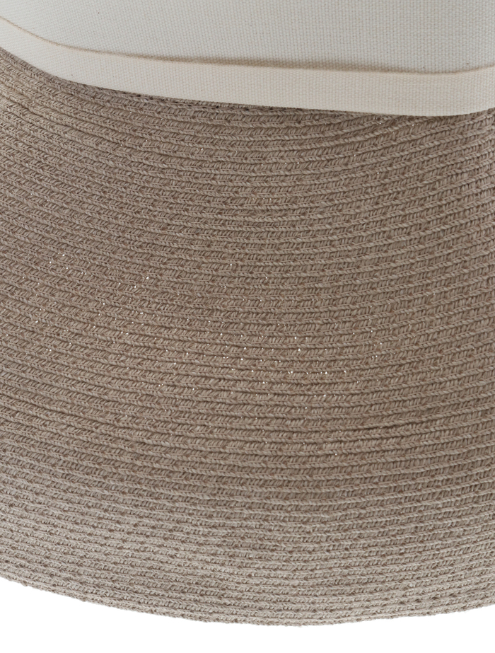 【mature ha.】Hemp Linen Braid Hat Low Wide 詳細画像 グレージュ 7