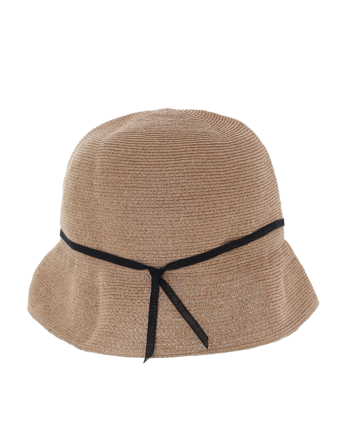 【mature ha.】Waterproof Paper Braid Light Hat Short 詳細画像 ブラウン 3